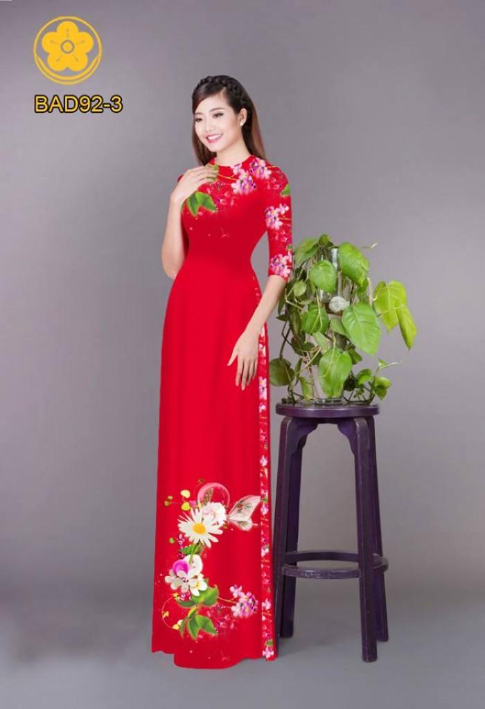 Vải áo dài hoa cúc24