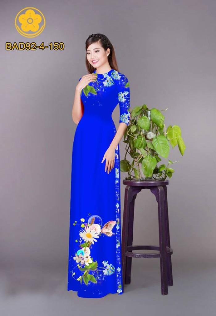 Vải áo dài hoa cúc26