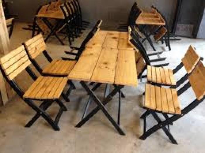Bàn ghế gỗ quán nhậu giá rẻ0