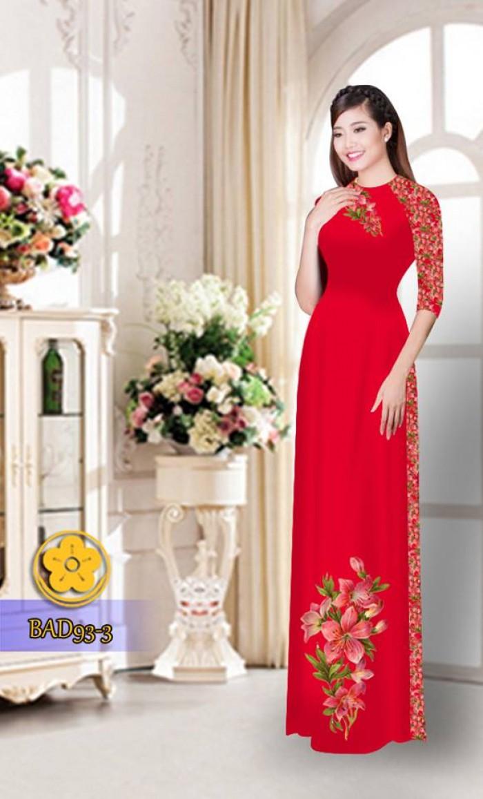 Vải áo dài với quần hoa xinh xắn13