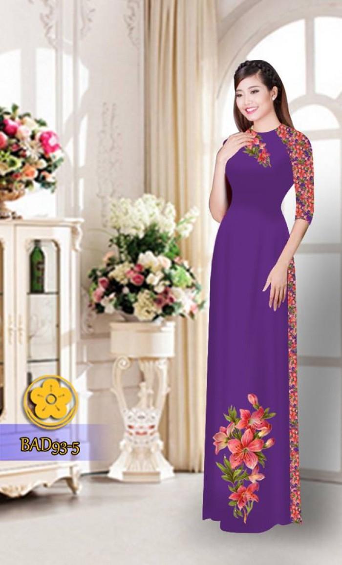 Vải áo dài với quần hoa xinh xắn22