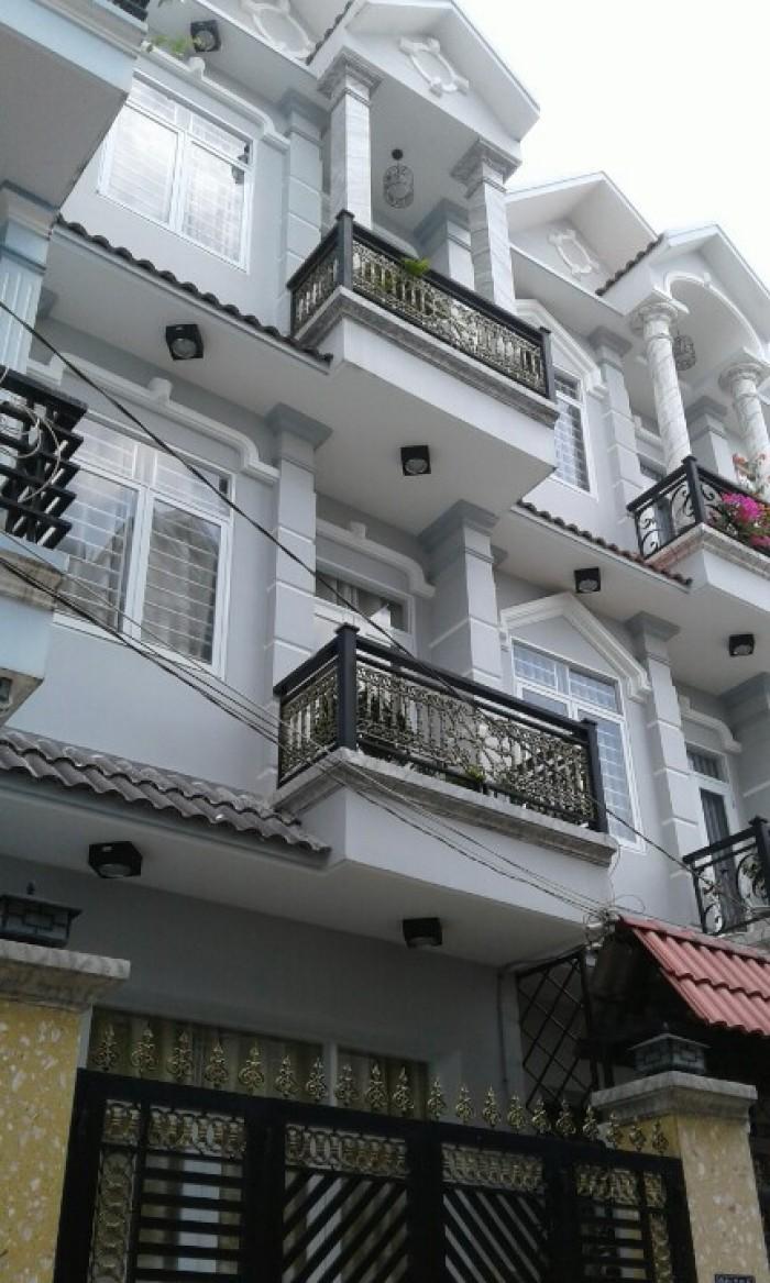 Bán nhà mới đẹp, hẻm 90 Dương Cát Lợi, Giáp Quận 7,Dt 4x13m,1 trệt 2 lầu, sân thượng.