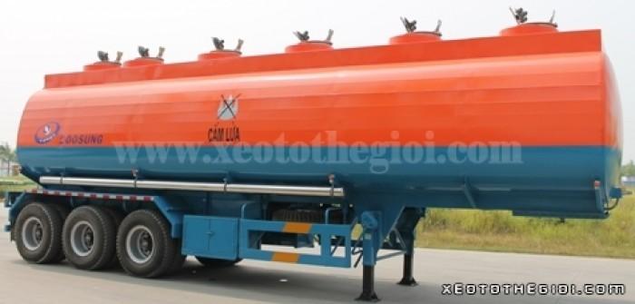 Sơ mi rơ mooc Doosung Chính hãng , giá rẻ nhất miền nam, chở xăng dầu 39 m3