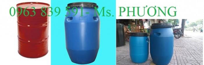Cung cấp thùng phuy nhựa 50l - 100l - 120l - 150l - 220l1