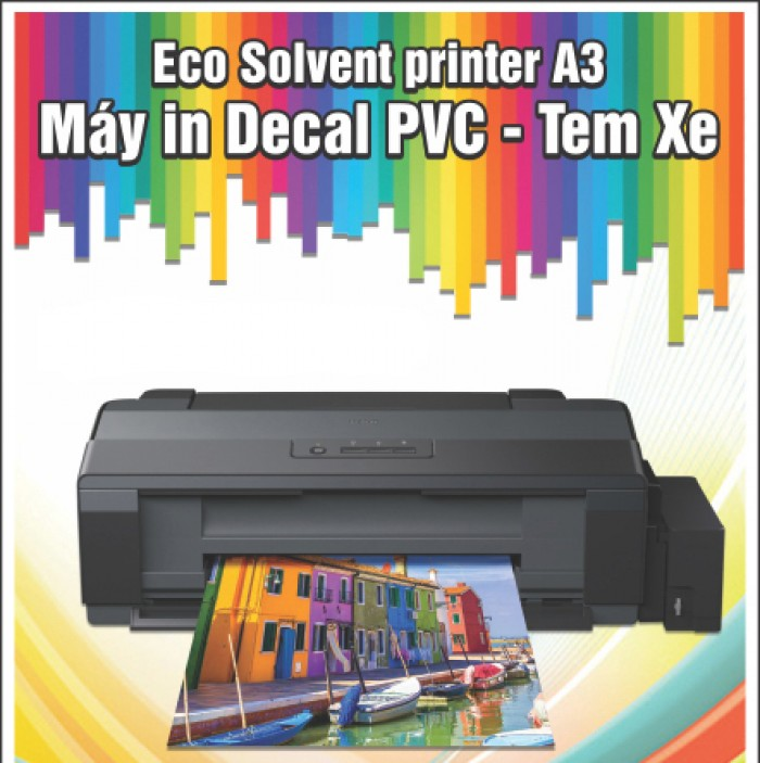 Epson a3 eco solvent in decal pvc0