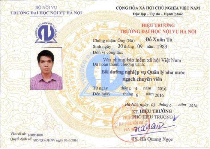 Khóa bồi dưỡng quản lý nhà nước ngạch chuyên viên ở Hà Nội