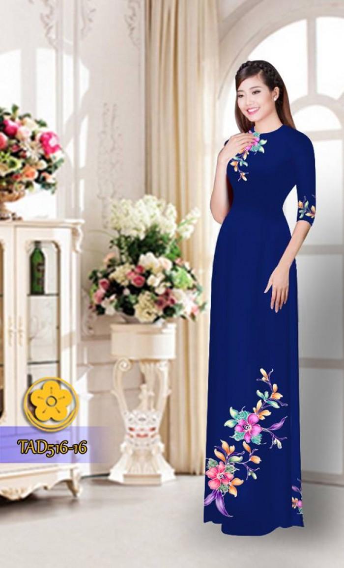 Vải áo dài hoa đẹp  TAD51628