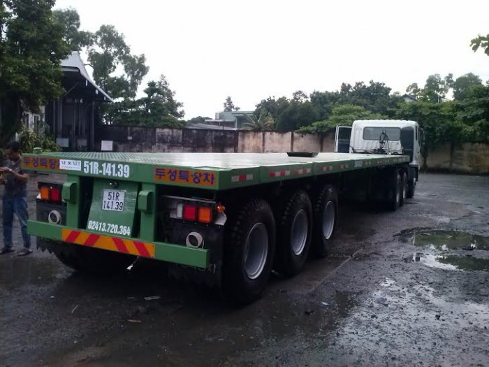 Rơ Mooc SÀn tải trọng cao, Doosung 3 trục 31.8 tấn