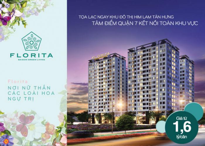 Bán căn hộ dự án florita quận 7, view đẹp, nội thất cao cấp, thiết kế sang trọng, giá 2,31 tỷ