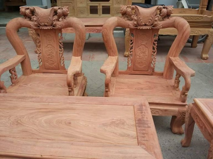 Bộ bàn ghế đồng kỵ minh quốc đào gỗ hương đ9