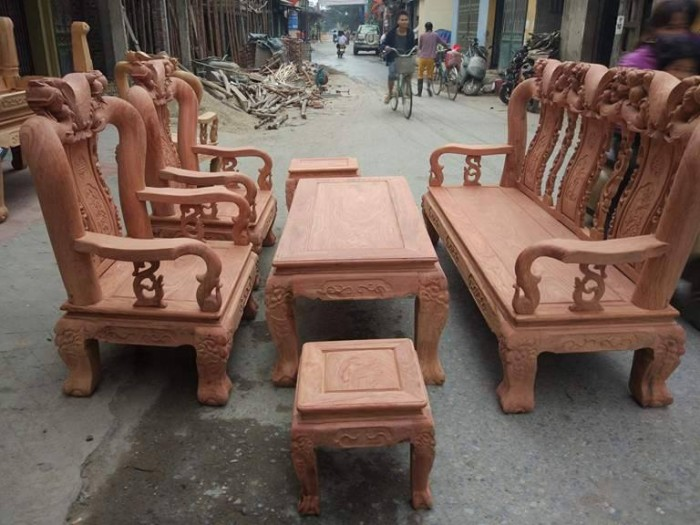 Bộ bàn ghế đồng kỵ minh quốc đào gỗ hương đ8