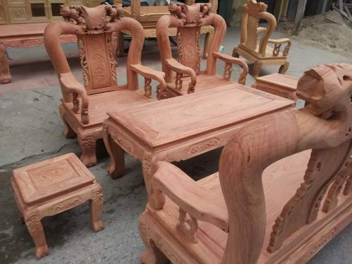 Bộ bàn ghế đồng kỵ minh quốc đào gỗ hương đ11