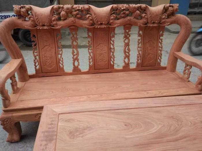 Bộ bàn ghế đồng kỵ minh quốc đào gỗ hương đ12