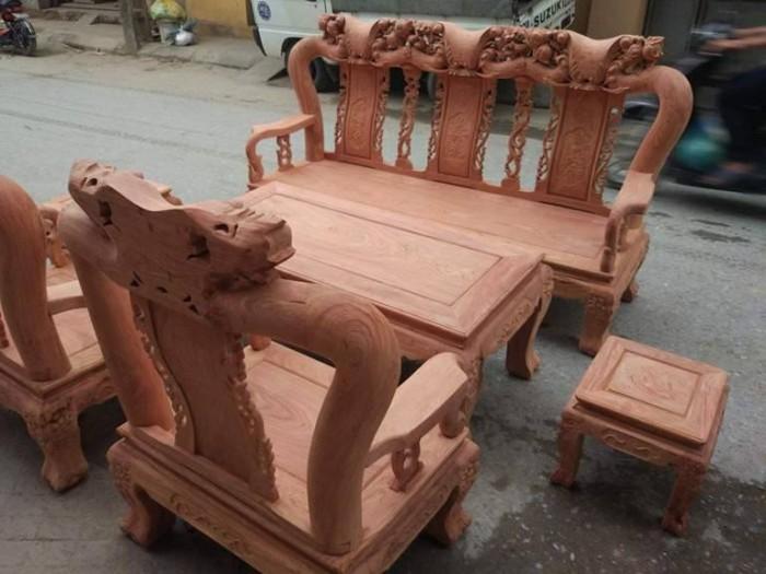Bộ bàn ghế đồng kỵ minh quốc đào gỗ hương đ13