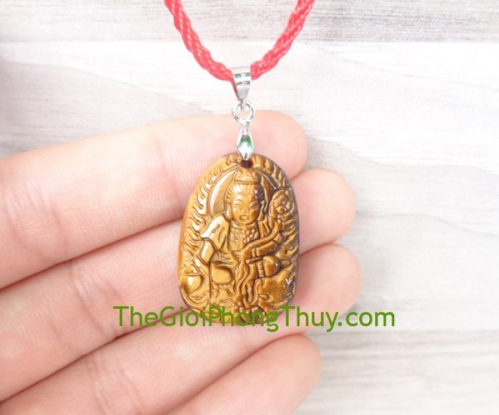 Phật bản mệnh đá mắt mèo nhỏ-Phổ Hiền Bồ Tát (Thìn+Tỵ) FS6484-41