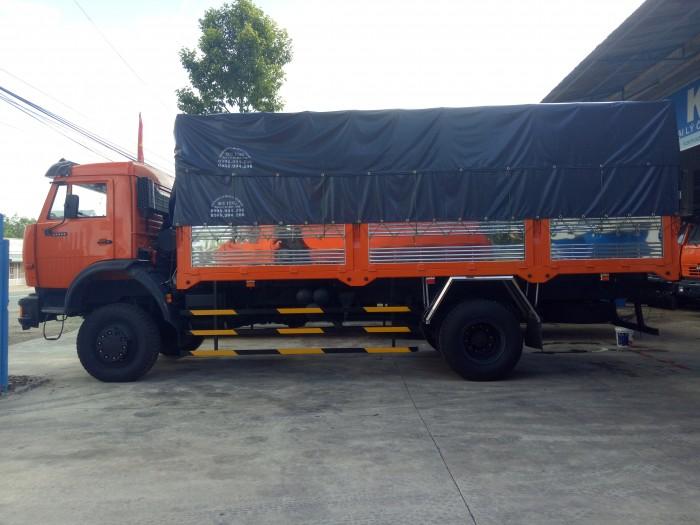 Xe tải thùng kamaz (4x4) hai chân hai cầu. 2