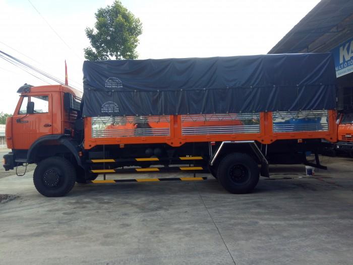 Xe tải thùng kamaz (4x4) hai chân hai cầu. 3
