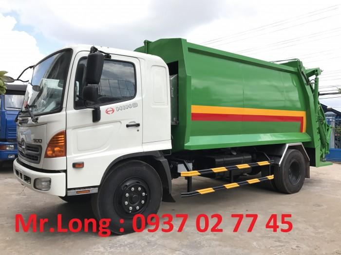 Xe tải HINO chở rác 13 m3  , xe HINO chở rác 8 tấn , xe HINO FG chở rác thải , xe ép rác 13 khối , HINO chuyên dùng chở ép rác , xe HINO 8 tấn cuốn ép chở rác 0