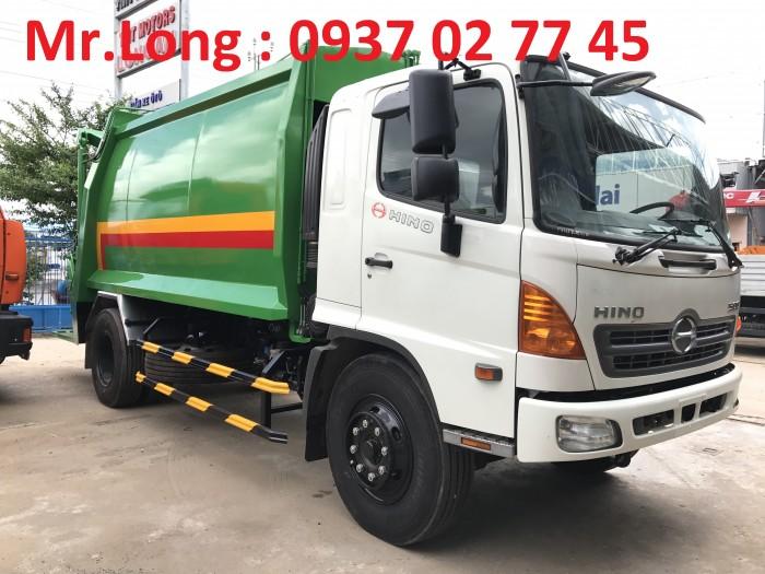 Xe tải HINO chở rác 13 m3  , xe HINO chở rác 8 tấn , xe HINO FG chở rác thải , xe ép rác 13 khối , HINO chuyên dùng chở ép rác , xe HINO 8 tấn cuốn ép chở rác 1