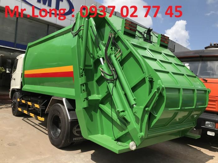 Xe tải HINO chở rác 13 m3  , xe HINO chở rác 8 tấn , xe HINO FG chở rác thải , xe ép rác 13 khối , HINO chuyên dùng chở ép rác , xe HINO 8 tấn cuốn ép chở rác 2