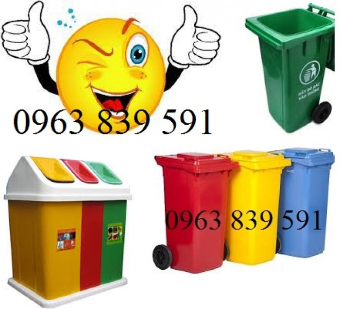 Thùng rác nhựa composite nguyên sinh chất lượng tốt2