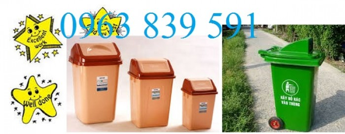 Thùng rác nhựa composite nguyên sinh chất lượng tốt3