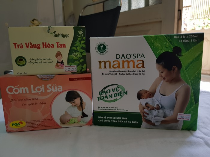Tinh dầu tắm/xông hơi, Trà vằng hòa tan lợi sữa, Cốm lợi sữa dành cho mẹ