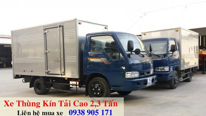 Xe tải thùng kín KIA K165s xe mới đời 2017. Xe giao liền với nhiều ưu đãi trong tháng