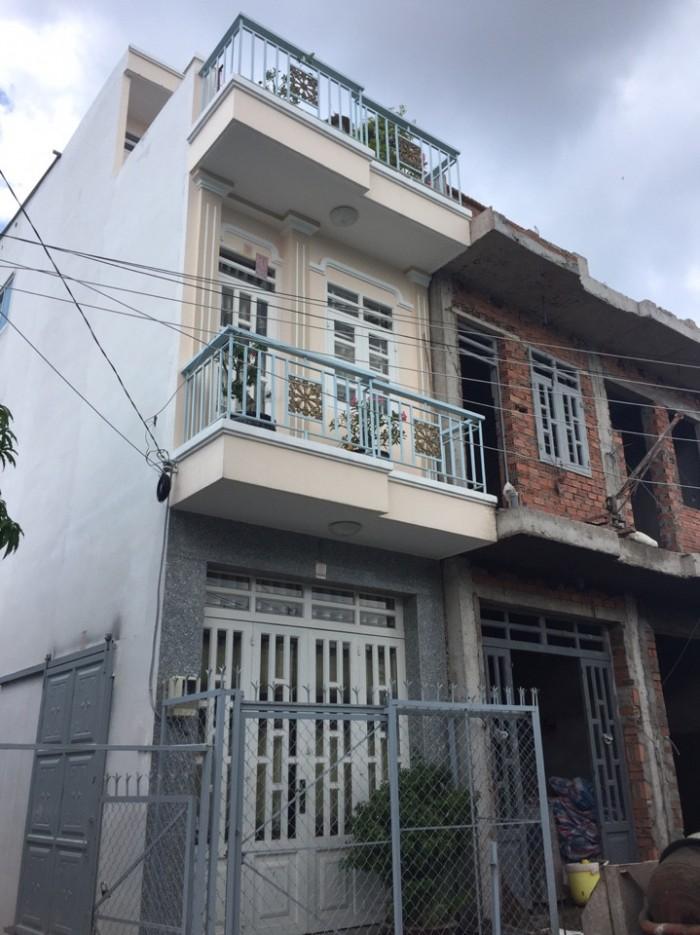 Bán nhà 3 lầu mới đẹp, mặt tiền hẻm đường nhựa 6m, Nguyễn Bình, Nhà Bè.Giá 1,2 tỷ