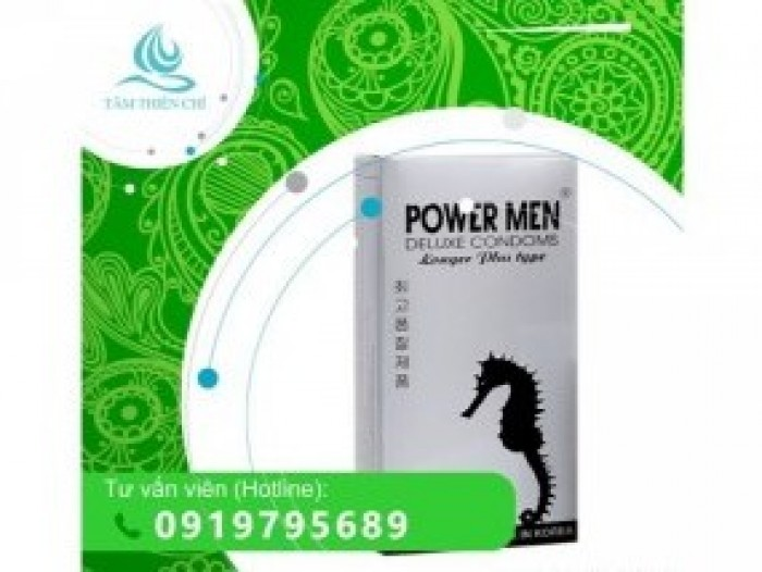 Bao cao su Powermen Longer Plus x 12 cái