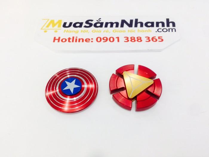 Combo Con quay Spinner Captain America & Spinner Iron Man Kim Loại Cao Cấp Cực Đẹp. MSN388168