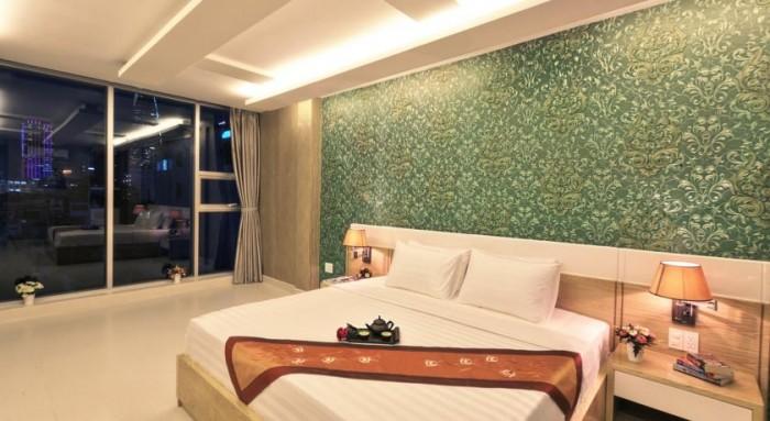 Bán KS 2 Sao, MT Calmette giao Lê Thị Hồng Gấm,DT: 70m2, 10 tầng, 25 phòng, HĐ: 158.55 tr/th, 47 tỷ