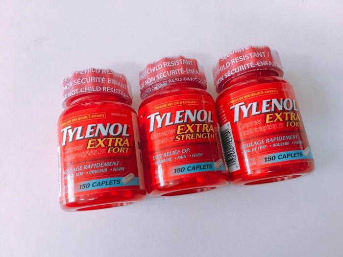 Thuốc giảm đau, hạ sốt Tylenol Extra Strength Acetaminophen 150 viên của Mỹ
