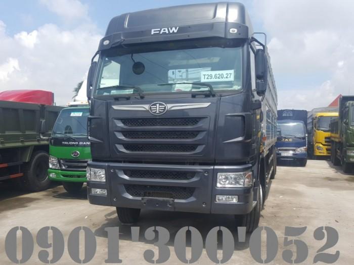 Giá xe tải Faw 4 chân 17.9 tấn/ 17t9 thùng mui bạt uy tín Sài Gòn