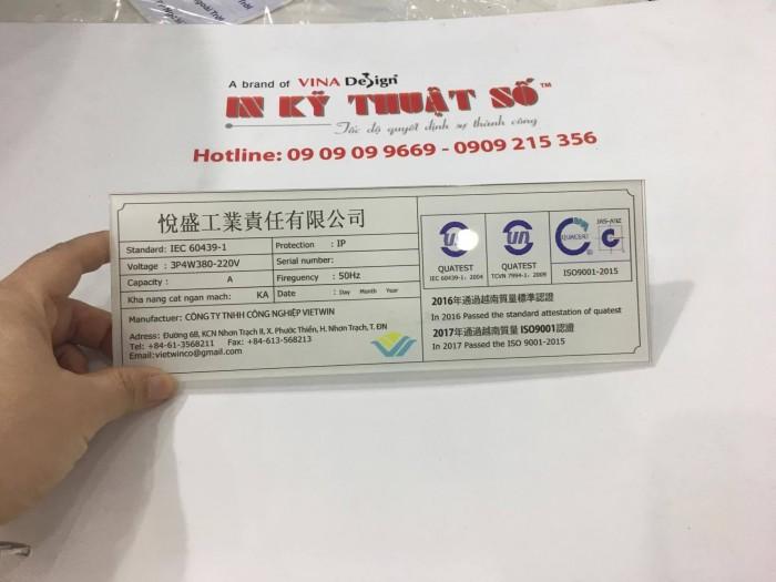 Đặt in trên Mica tại TPHCM cùng In Kỹ Thuật Số Lê Quang Định