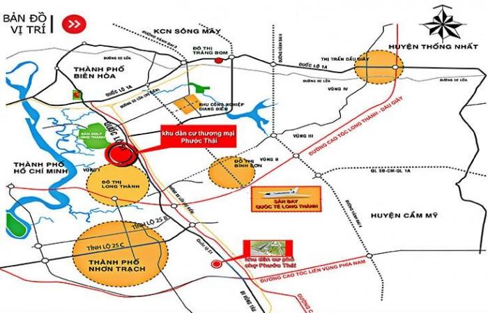 Bán đất nền dự án tại KDC thương mại Phước Thái - Thành phố Biên Hòa - Đồng Nai