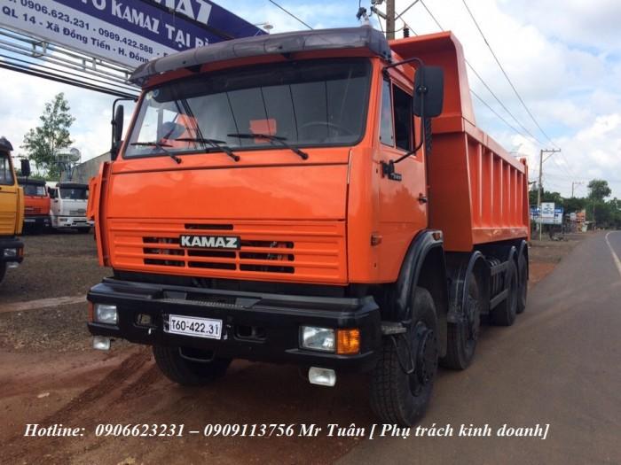 Xe ben 6540 (8x4) thùng 15m3 tại kamaz bình phước/ Kamaz Ben 4 giò nhập nguyên chiếc
