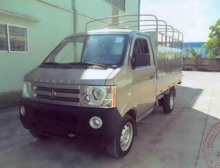 DongBen 870kg Thùng Mui Bạt sản xuất năm 2017 Số tay (số sàn) Xe tải động cơ Xăng