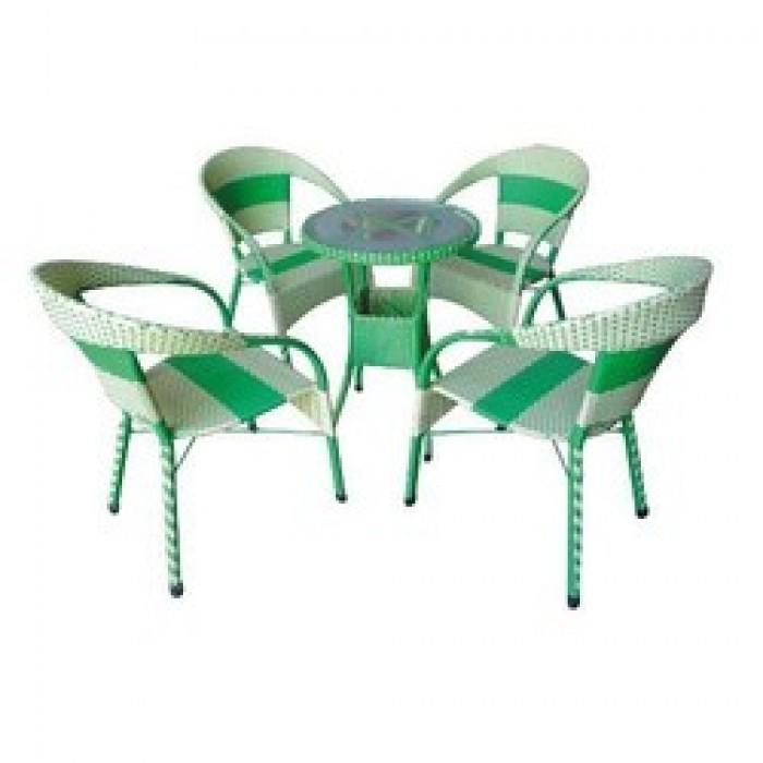 Bàn ghế mây dành cho quán cà phê giá rẻ0