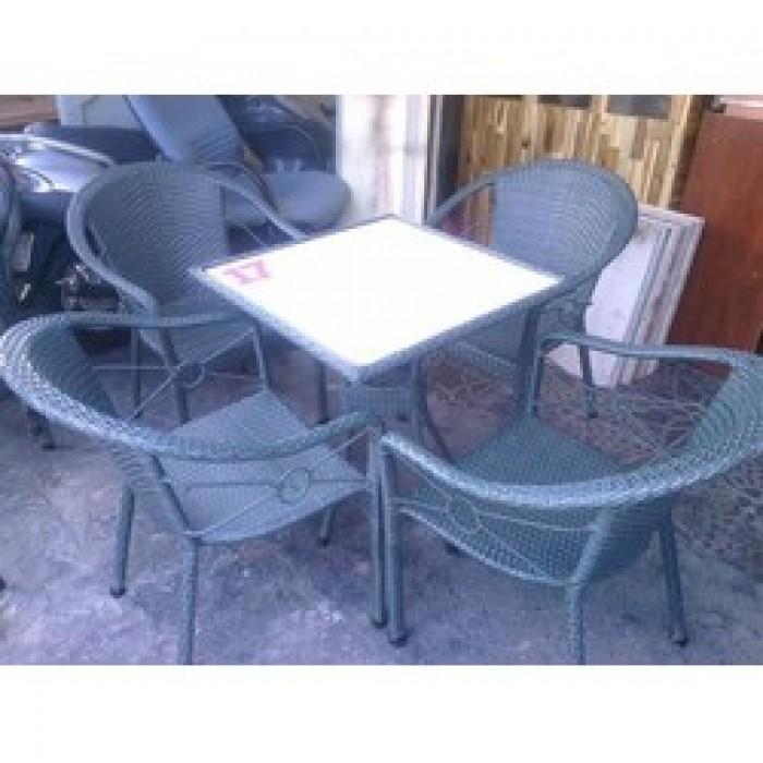 Bàn ghế mây dành cho quán cà phê giá rẻ4