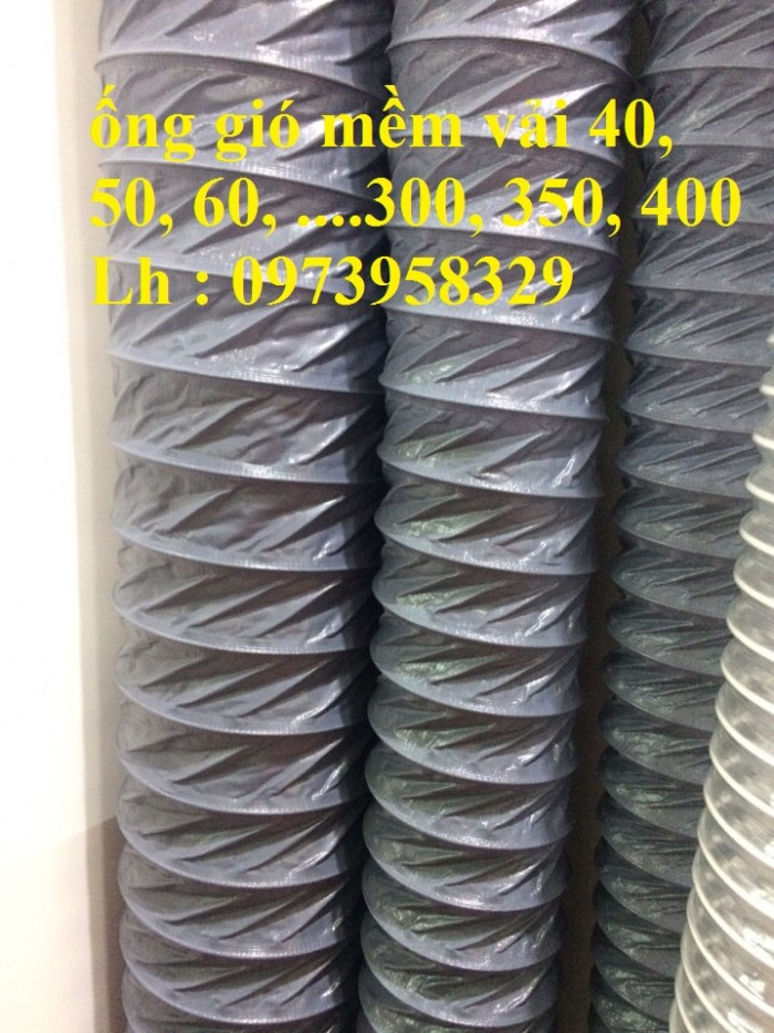 Ống gió mềm vải Tapaulin Hàn Quốc D75, D100, D125, D150, D200, D250, D300, D400, D5000