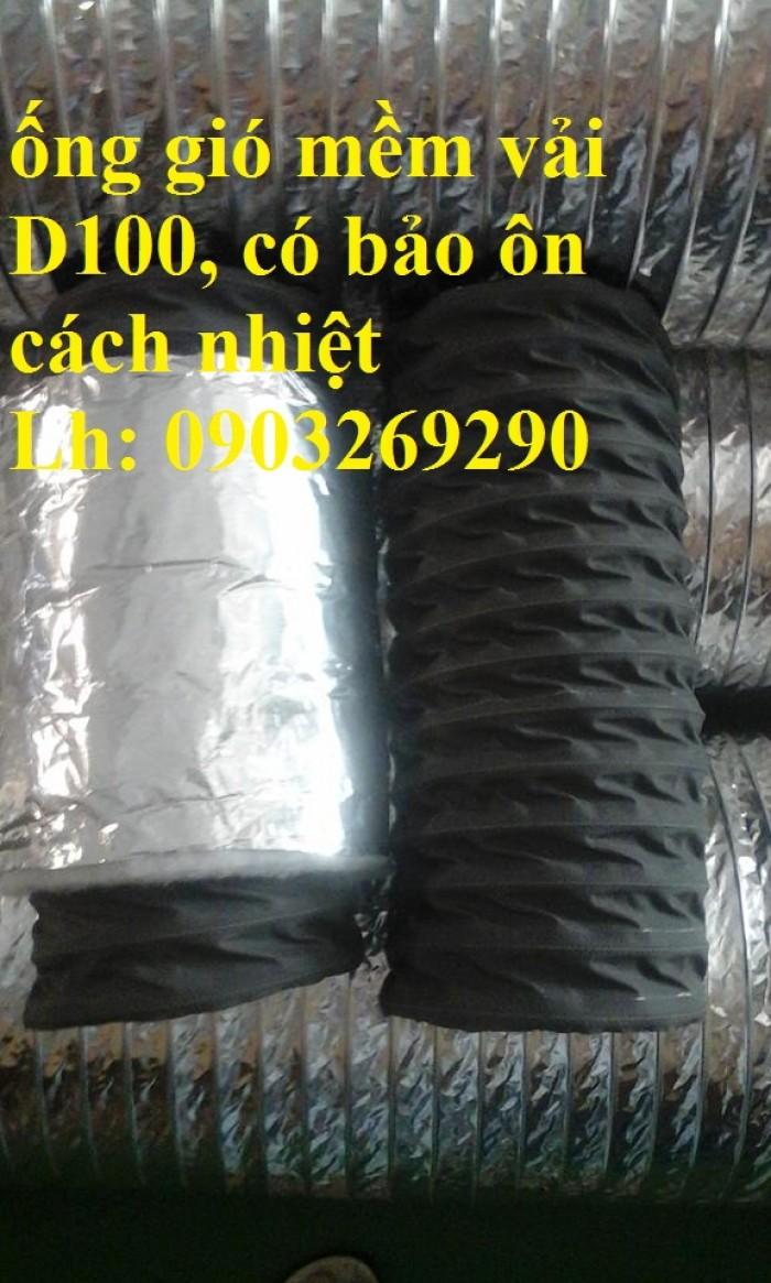 Ống gió mềm vải Tapaulin Hàn Quốc D75, D100, D125, D150, D200, D250, D300, D400, D5007