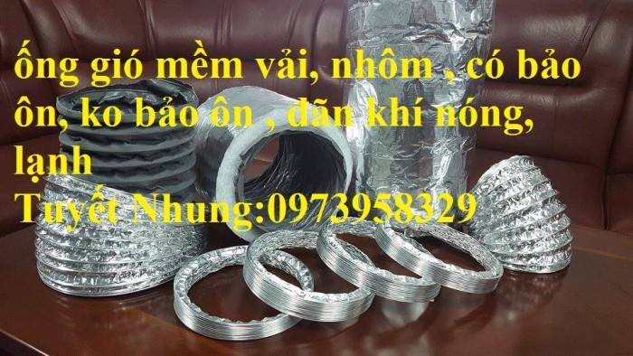 Ống gió mềm vải Tapaulin Hàn Quốc D75, D100, D125, D150, D200, D250, D300, D400, D5008