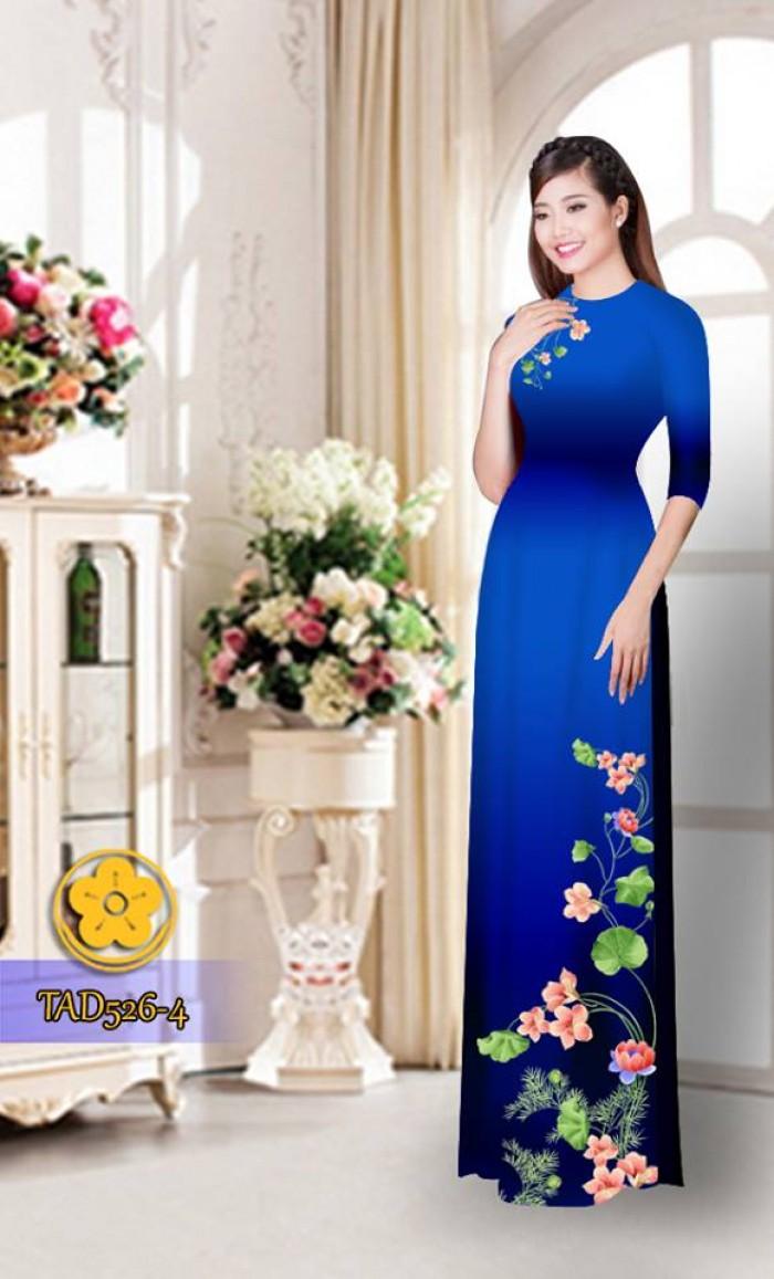 Vải áo dài hoa đẹp TAD5260