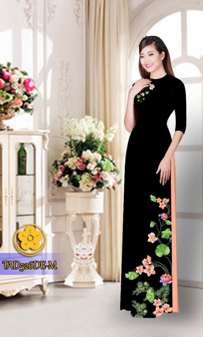 Vải áo dài hoa đẹp TAD5264