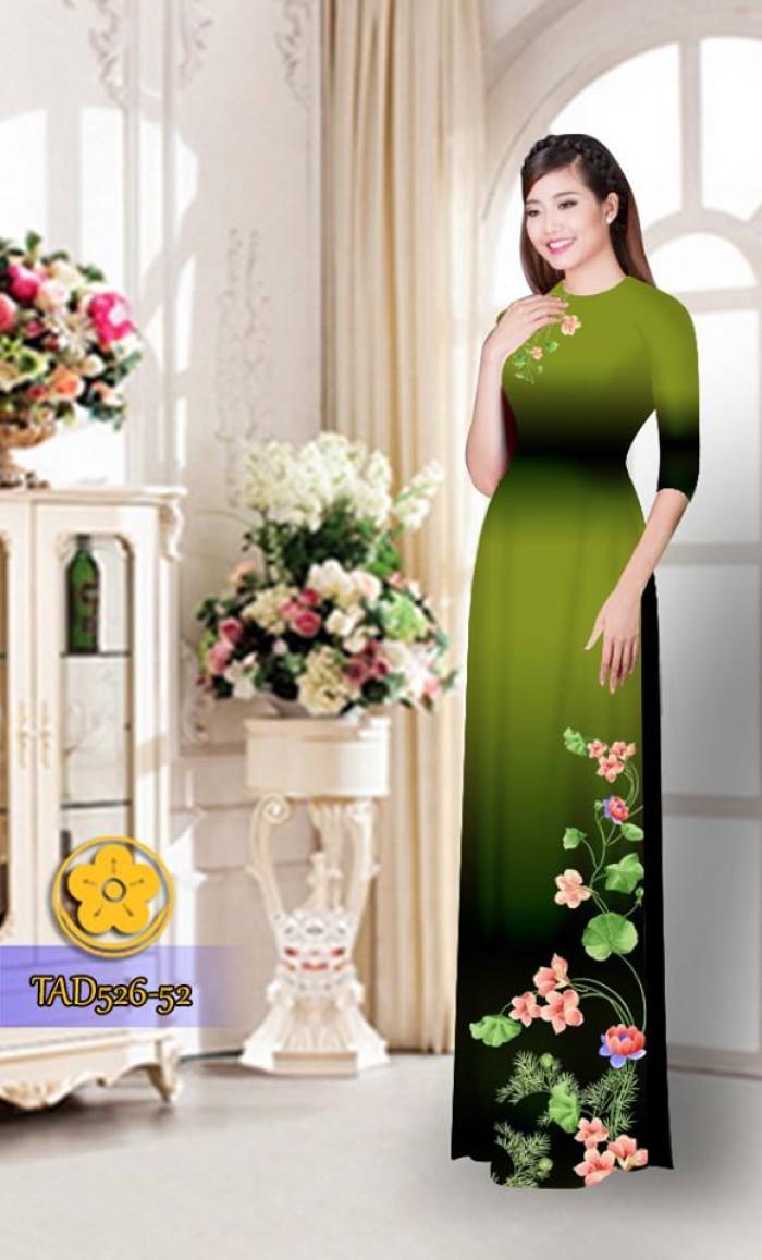 Vải áo dài hoa đẹp TAD5269