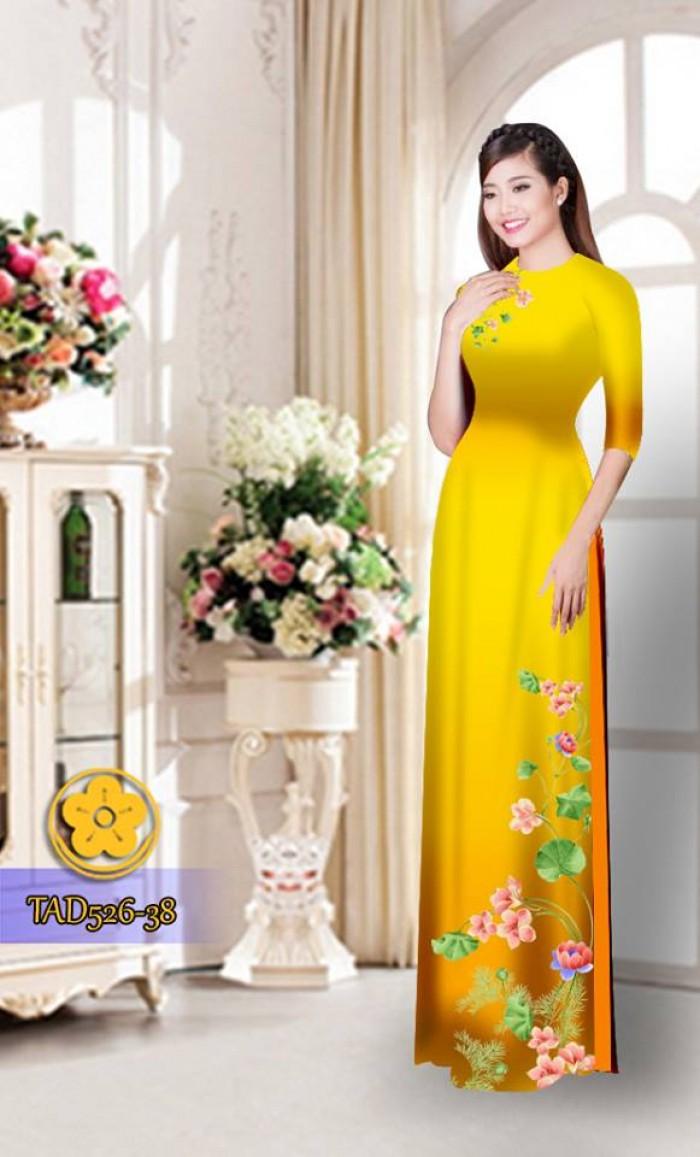 Vải áo dài hoa đẹp TAD52610