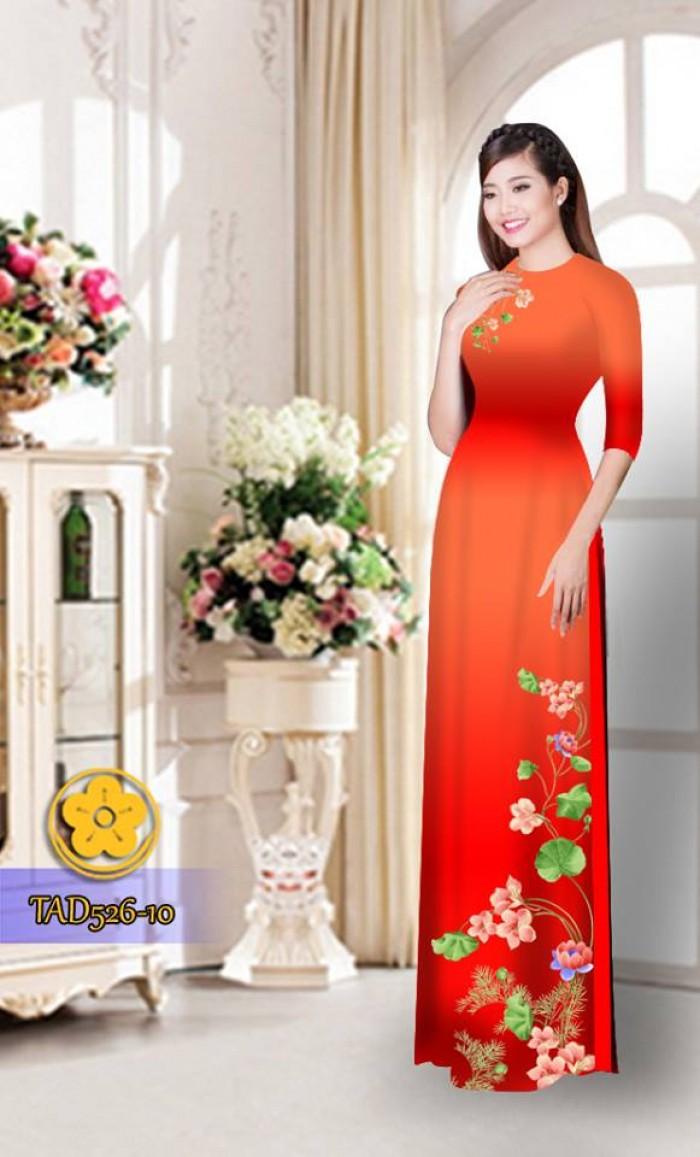 Vải áo dài hoa đẹp TAD52613