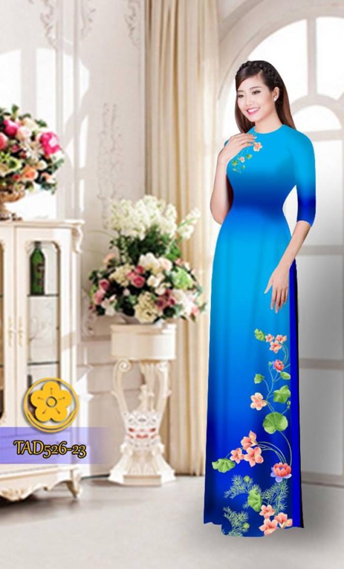 Vải áo dài hoa đẹp TAD52619