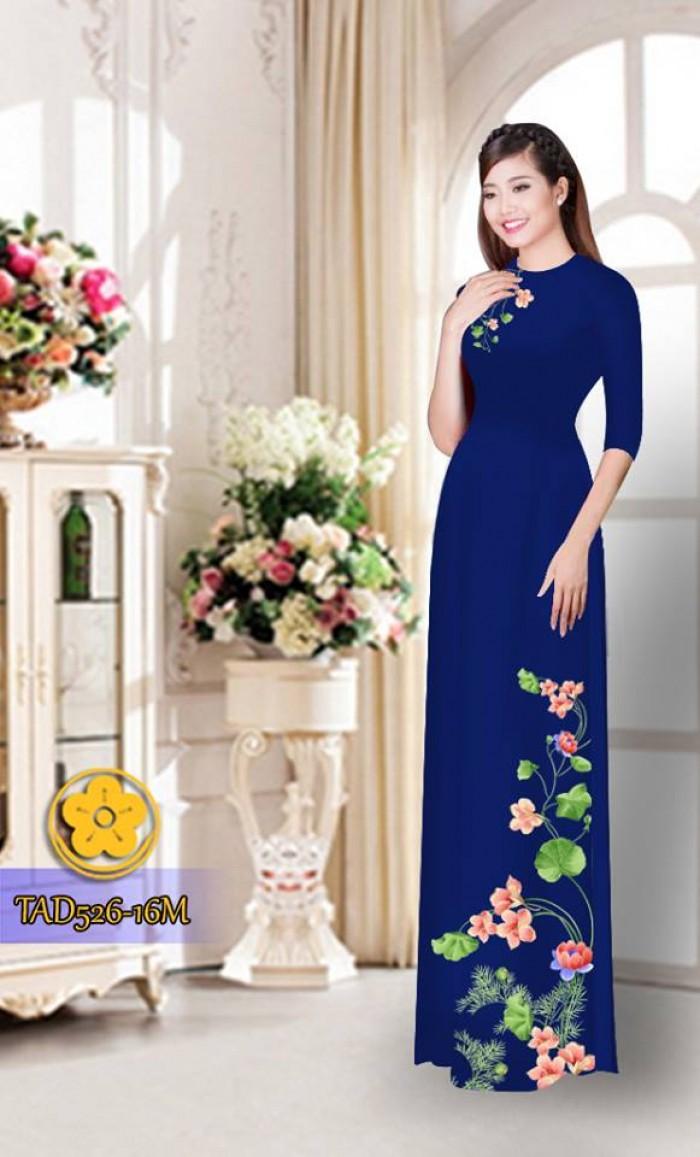 Vải áo dài hoa đẹp TAD52620